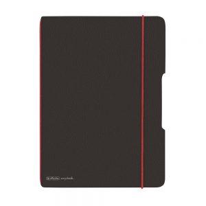 herlitz my.book flex DIN A 4 Lederoptik anthrazit/rot  als Werbeartikel mit Logo bedrucken im PRESIT Online-Shop