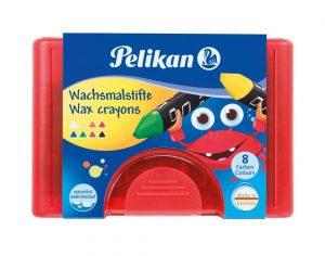Pelikan Wachsmalstifte 665/ 8D sortiert  als Werbeartikel mit Logo bedrucken im PRESIT Online-Shop