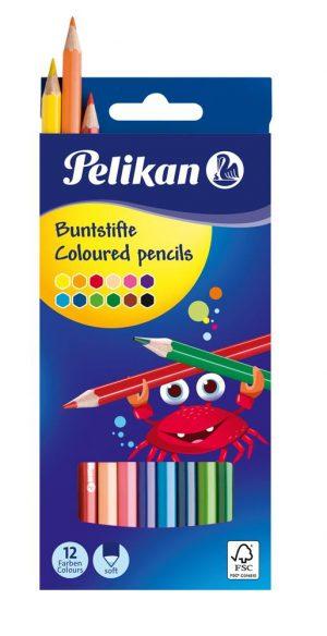 Pelikan Buntstifte BS12LN sortiert  als Werbeartikel mit Logo bedrucken im PRESIT Online-Shop