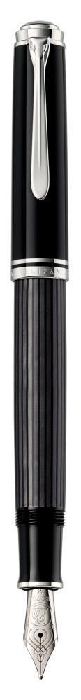 Pelikan Souverän Füllhalter M 405 Stresemann schwarz/anthrazit  als Werbeartikel mit Logo bedrucken im PRESIT Online-Shop