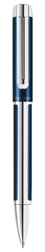 Pelikan Kugelschreiber Pura K40 blau/silber  als Werbeartikel mit Logo bedrucken im PRESIT Online-Shop