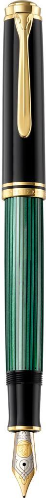 Pelikan Souverän Füllhalter M 800 schwarz/grün  als Werbeartikel mit Logo bedrucken im PRESIT Online-Shop