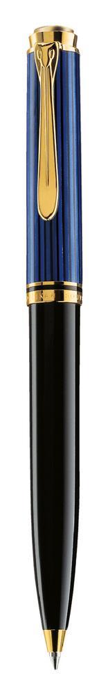Pelikan Souverän Kugelschreiber K 600 schwarz/blau  als Werbeartikel mit Logo bedrucken im PRESIT Online-Shop