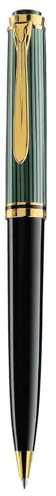 Pelikan Souverän Kugelschreiber K 800 schwarz/grün  als Werbeartikel mit Logo bedrucken im PRESIT Online-Shop