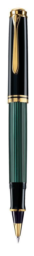 Pelikan Souvreän Titenroller R 400 schwarz/grün  als Werbeartikel mit Logo bedrucken im PRESIT Online-Shop