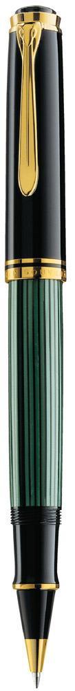 Pelikan Souverän Tintenroller R 800 schwarz/grün  als Werbeartikel mit Logo bedrucken im PRESIT Online-Shop