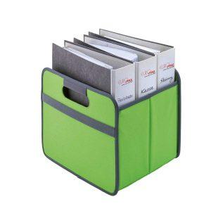 Faltbare Multibox einfach – grüne Box – veredelt mit Ihrer Werbeanbringung