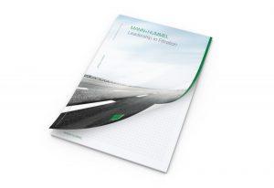 Schreibblock Cover A4 individuell mit Werbeeindruck - Werbeartikel bedrucken