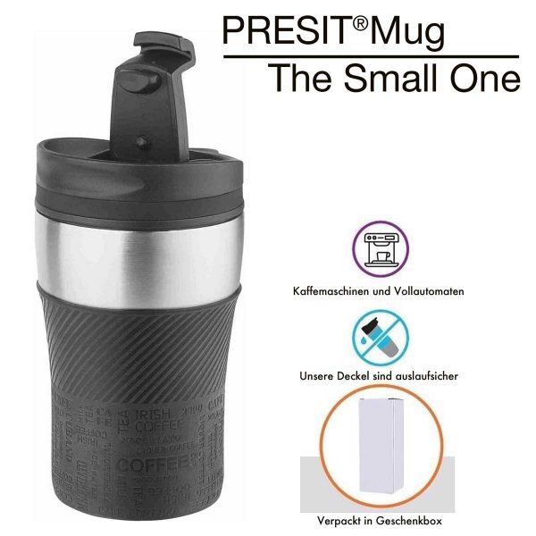 PRESIT-Mug –The Small One – Becher – Home Coffee Genussbecher oder Thermobecher für unterwegs