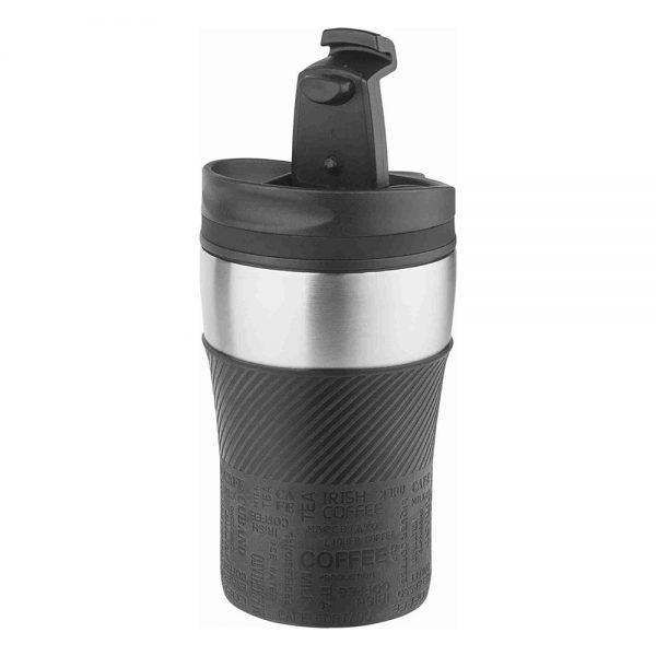PRESIT-Mug schwarz – The Small One – Auslauf- und tropfsicher. Perfekt für Lasergravuren