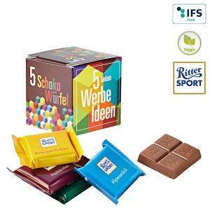 Ritter Sport Schokolade als Werbeartikel bedrucken lassen