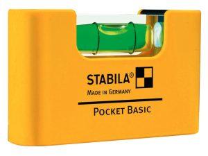 STABILA Wasserwaage Pocket Basic – diese Miniformat-Wasserwaage beansprucht kaum Platz und passt bequem in die Hosentasche