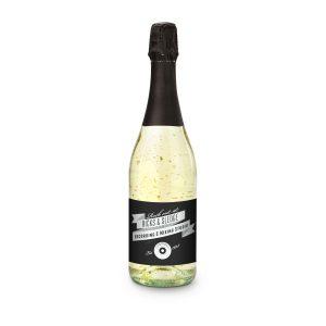 Goldflockentraum – Flasche klar – Kapsel rot