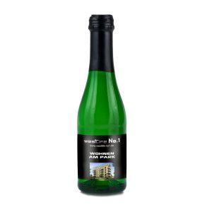 Sekt Cuvée Piccolo – Flasche grün – Kapsel rot