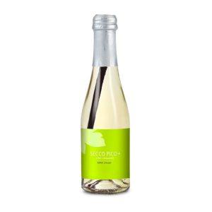 Secco+Trinkhalm – Flasche klar – Kapselfarbe rot