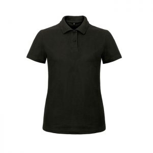 Ladies` Heavymill Polo HEAVYMILL WOMEN - Black/Black Opal - Poloshirts