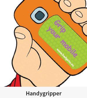Handygripper – Das Antirutsch – Pad für Handys und Smartphone