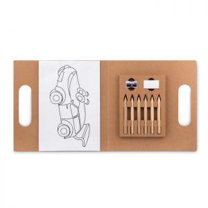 Malset mit 6 Buntstiften FOLDER2 GO - Zeichnen & Malen