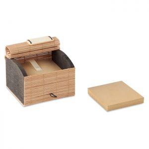 Bambus Notizzettelbox CORTINA BLOCK - Zettelboxen