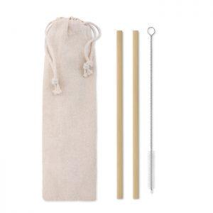 Bambus Trinkhalme-Set NATURAL STRAW - Küchenutensilien