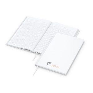 Note-Book Complete A5 matt-weiß - Werbeartikel bedrucken