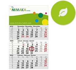 Öko Kalender als Werbeartikel bedrucken
