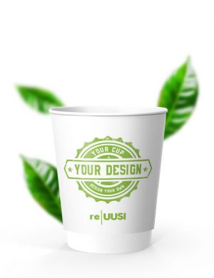 200ml Double Wall re|UUSI Becher Der recyclebare Papier Kaffe To-Go Becher 200ml