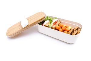 PRESIT® Bambus Lunchbox – Brotdose mit Inhalt