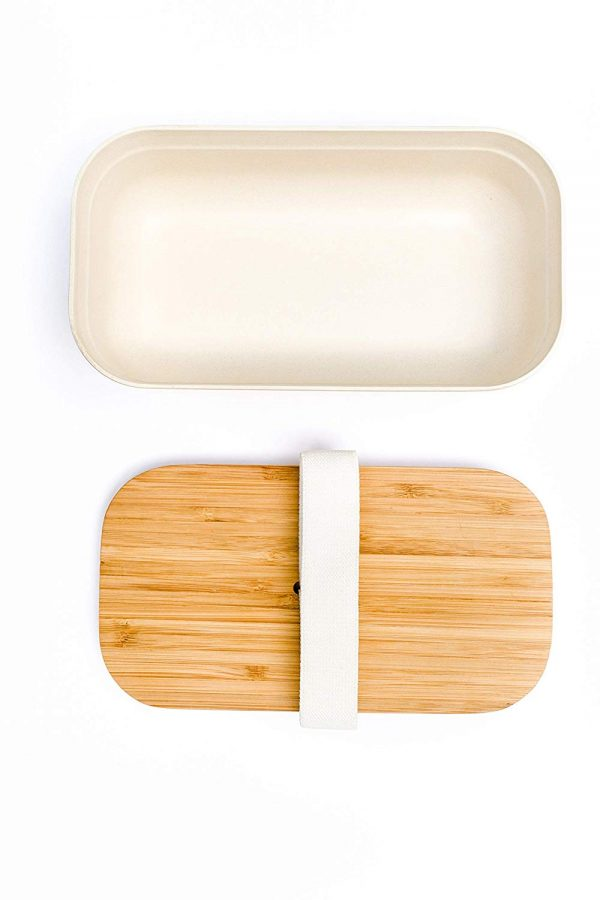 PRESIT® Bambus Lunchbox – Brotdose offen