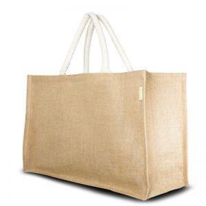 Jute Shopper XXL ist für alles Platz! Er ist auch ein praktischer Begleiter für einen Strand- oder Tagesausflug.