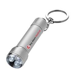 Taschenlampen-Schlüsselanhänger als Werbeartikel bedrucken