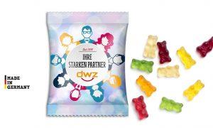 Gummibärchen im Werbetütchen (15 g) als Werbeartikel mit Logo im PRESIT Online-Shop bedrucken lassen