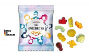 Fruchtgummi Standardformen (15 g) als Werbeartikel mit Logo im PRESIT Online-Shop bedrucken lassen