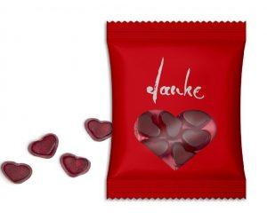 Fruchtgummi im Standardtütchen als Werbeartikel mit Logo im PRESIT Online-Shop bedrucken lassen