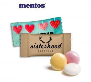 mentos im Flowpack als Werbeartikel mit Logo im PRESIT Online-Shop bedrucken lassen