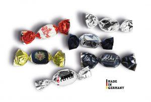 Bonbons im Metallicwickler