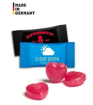 Herzbonbons im Flowpack [1kg Pack] als Werbeartikel mit Logo im PRESIT Online-Shop bedrucken lassen