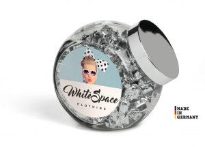 Bonbonglas als Werbeartikel mit Logo im PRESIT Online-Shop bedrucken lassen
