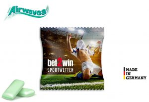 Airwaves Double als Werbeartikel mit Logo im PRESIT Online-Shop bedrucken lassen