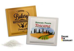 Zuckertütchen als Werbeartikel mit Logo im PRESIT Online-Shop bedrucken lassen