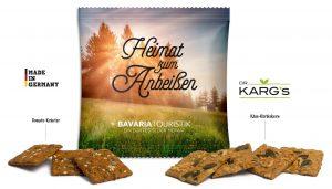 Vollkorn Snack im Werbetütchen als Werbeartikel mit Logo im PRESIT Online-Shop bedrucken lassen