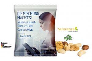Seeberger Nusskernmischung als Werbeartikel mit Logo im PRESIT Online-Shop bedrucken lassen