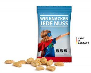 Geröstete Erdnüsse als Werbeartikel mit Logo im PRESIT Online-Shop bedrucken lassen