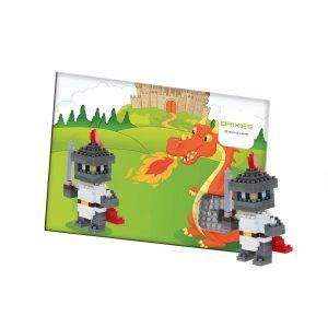 Brixies Postkarte Astronaut Zabawki konstrukcyjne