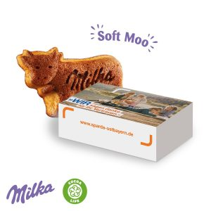 Milka Soft Moo als Werbeartikel mit Logo im PRESIT Online-Shop bedrucken lassen