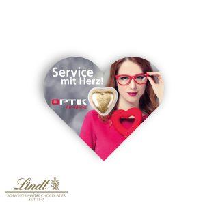 Schokokarte Business - Herz als Werbeartikel mit Logo im PRESIT Online-Shop bedrucken lassen