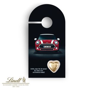 Schokokarte Business - Türanhänger als Werbeartikel mit Logo im PRESIT Online-Shop bedrucken lassen