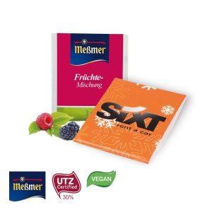 Premium-Tee im Werbebriefchen als Werbeartikel mit Logo im PRESIT Online-Shop bedrucken lassen