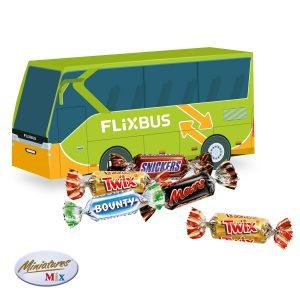 3D Präsent Bus als Werbeartikel mit Logo im PRESIT Online-Shop bedrucken lassen