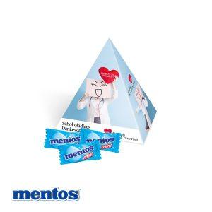 Werbe-Pyramide Mentos als Werbeartikel mit Logo im PRESIT Online-Shop bedrucken lassen